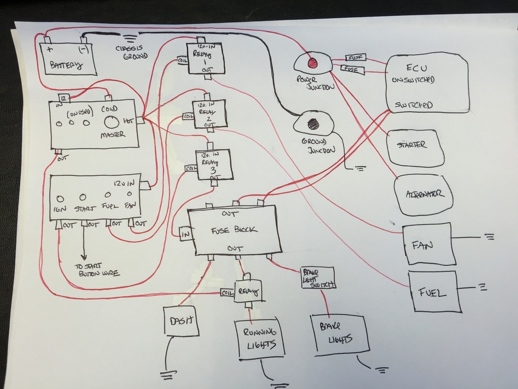Race Wiring Diagram - Electrical systems - Auszcar | Drag Car Wiring Diagram With Relay |  | www.viczcar.com